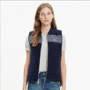 Madewell Reversible wool And Puffer Vest